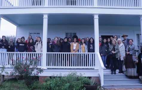 George Ranch interior design students at the Polly Ryan house at the George Ranch Historical Park.