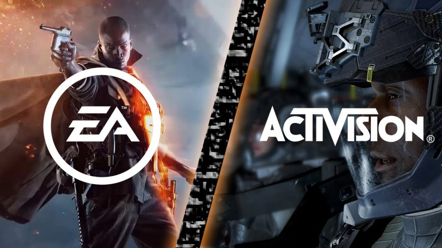 DICE's Battlefield 1 and  Call of Duty in a side-by-side