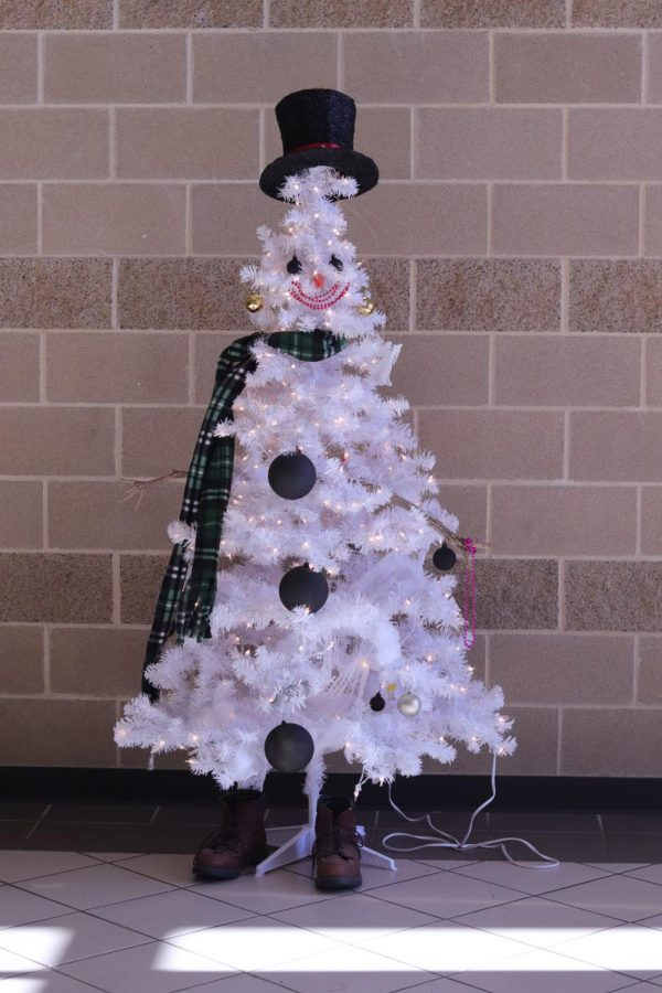 Frosty the snow tree is the jolliest of them all