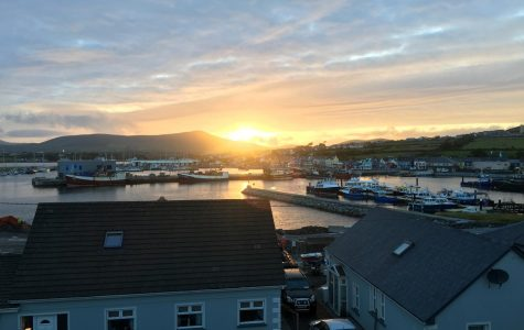 View from our AirBnb in Dingle, Ireland- a beautiful little town right on the coast.