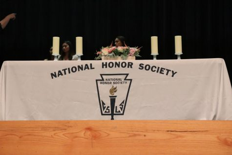 The National Honor Society 10th Induction Ceremony getting set up before the big night!