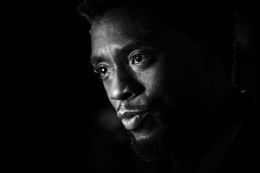 """February 8, 2018, Chadwick Boseman attends the European Premiere of Marvel Studios' """"Black Panther"""