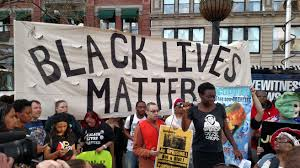BLM supporters rallying in NYC at the NYC Rise Up event in Union Square.