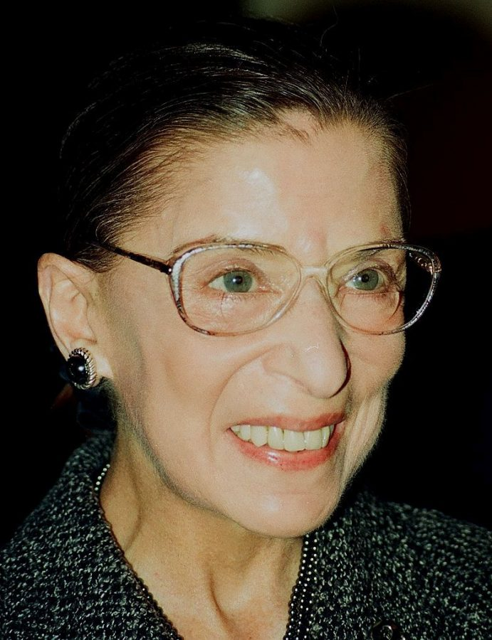 Ruth Bader Ginsburg posing for a picture a few months before her death.