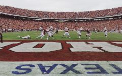 The last play of the game on a previous Red River Showdown, OU vs UT.