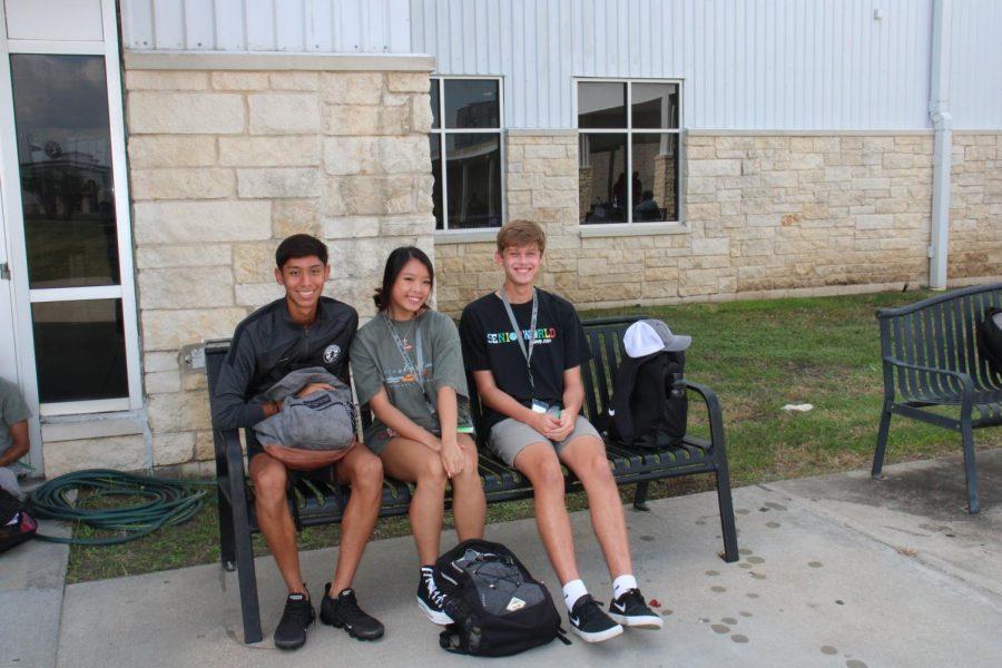 Alan Mendoza, Nicole Chen, and Luke Keenan smile with glee.