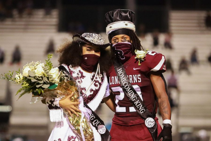 Jaia Johnson (12) and Davion Jenkins (12) are crowned King and Queen for the 2020 Homecoming Royalty.