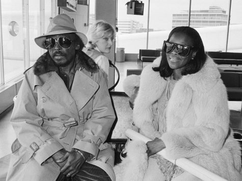 (Left) Ex-Husband Miles Davis and (Right) Cicely Tyson pictured in the Schiphol Airport in the Netherlands.