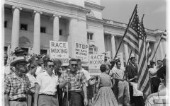 Riots and protests occurred over the integration of African Americans.