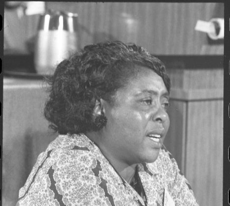 Fannie Lou Hamer Speaks at the Democratic National Convention in 1964.