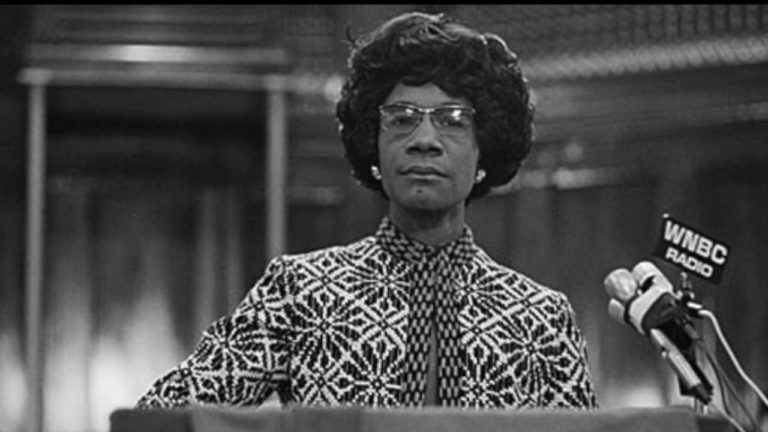 Chisolm was the first African-American woman to be elected to the House of Representatives
