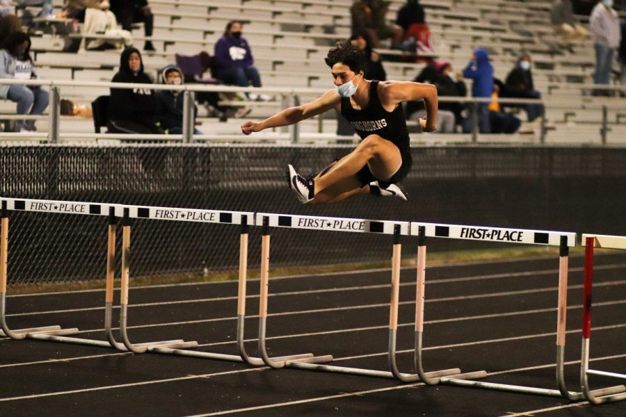 Leo Garza (9) was jumping over the hurdles with ease.
