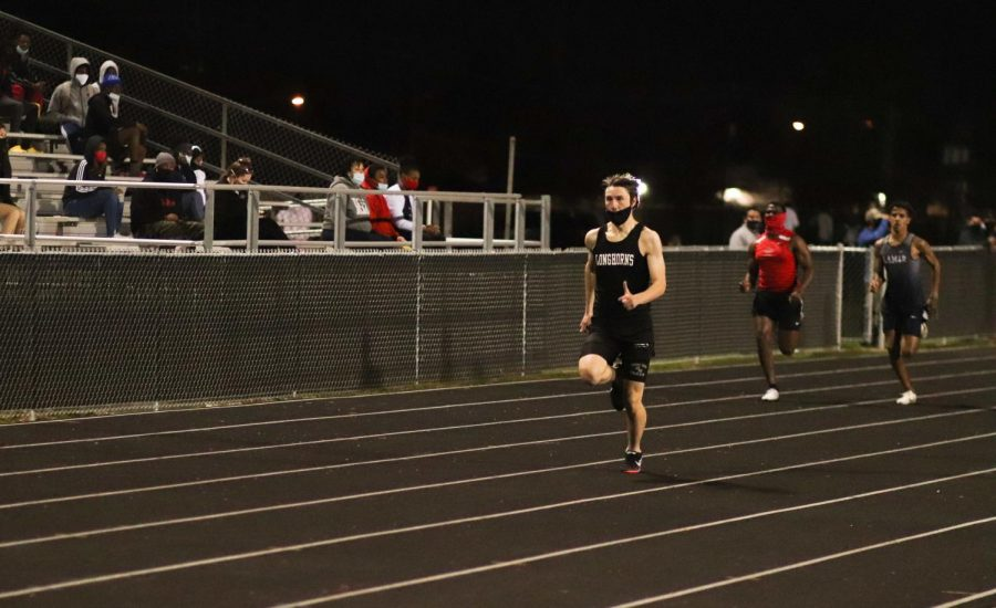 Joseph Bivona (11) got out of the block fast and ended up smoking everybody in the 200m.
