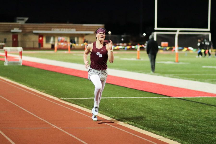 Matthew McDonald (11) was running the 1600m when he left his components in the dust.