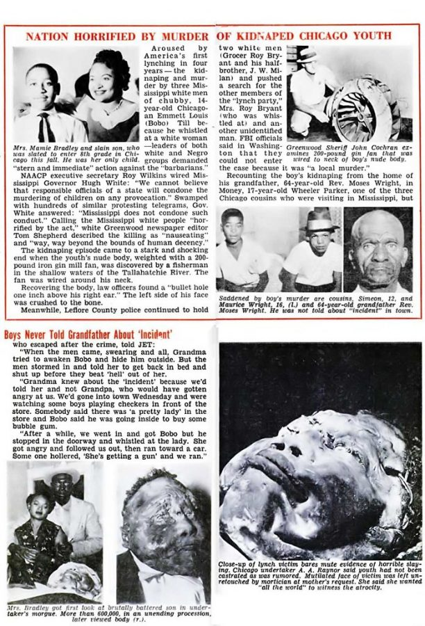 This is a headline during the time of Till's death that shows the aftermath of his beating.