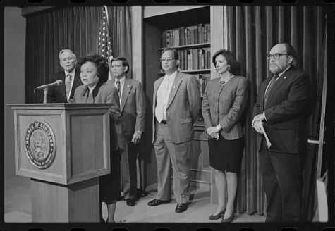 Patsy Mink announces the formation of the Congressional Asian Pacific American Caucus in 1994 commons.wikimedia.org