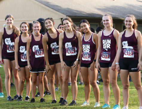 The Junior Varsity girls were all very excited to get their own race over with!